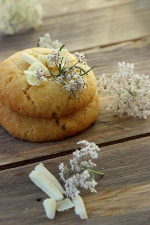 Cookies Chocolat blanc & Flowers 1