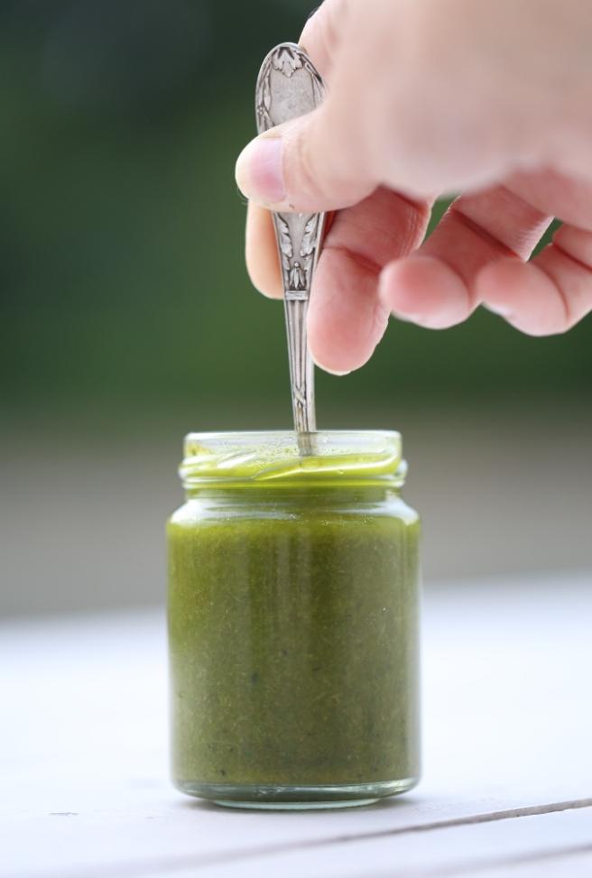 huile d'olive au basilic 3