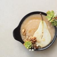 Purée poire, banane & huile de noix