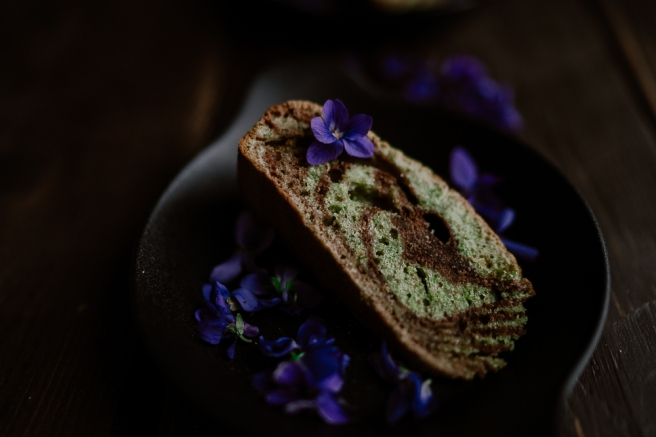 Cake marbré chocolat & pistache-2