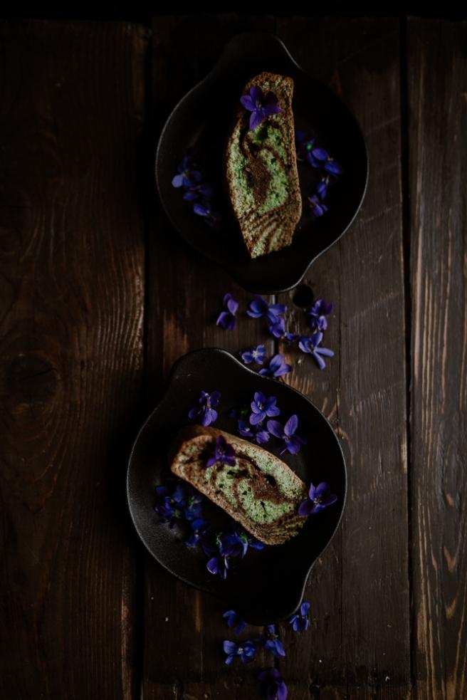 Cake marbré chocolat & pistache-4