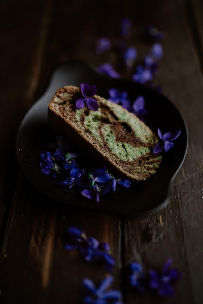 Cake marbré chocolat & pistache-6