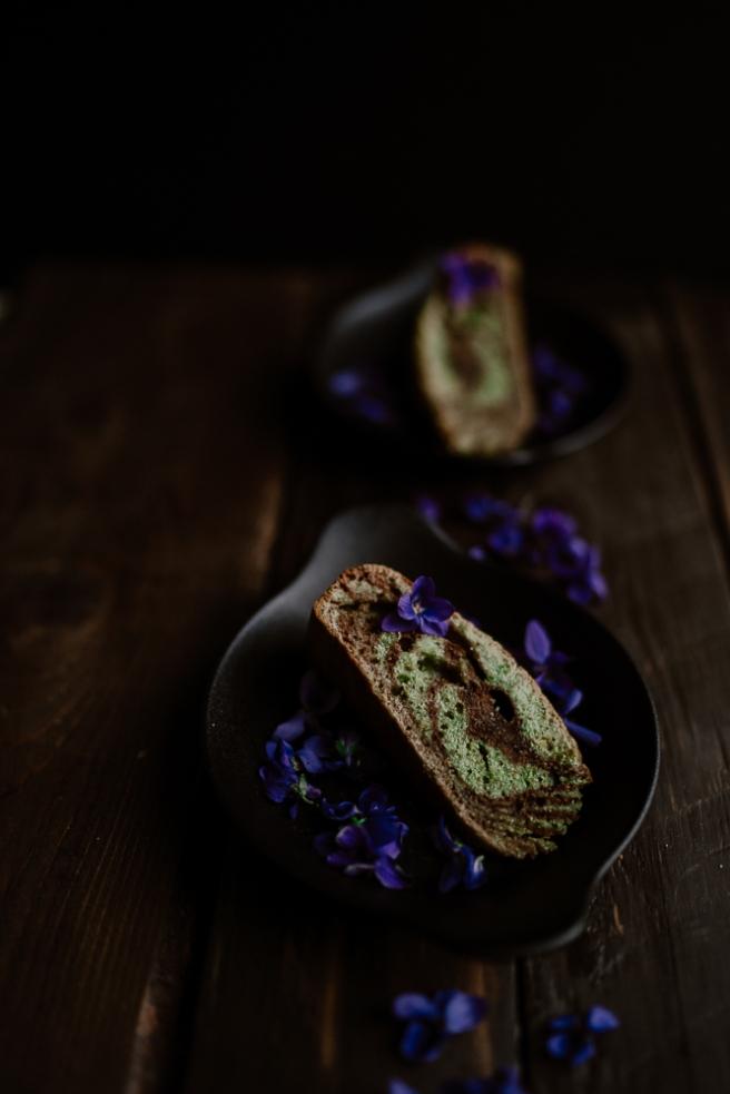 Cake marbré chocolat & pistache-7