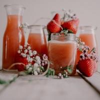 Jus de fraise de printemps